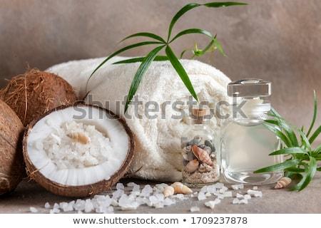 coco bath coconut with sea salt stock photo © joannawnuk
