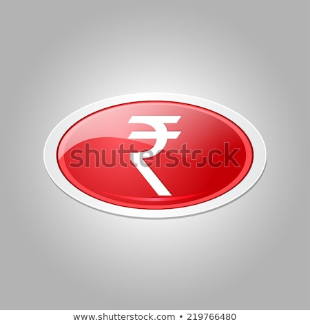 Rupee Currency Sign Circular Vector Red Web Icon Button Stock photo © rizwanali3d
