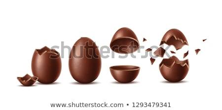 dos · huevos · aislado · blanco · alimentos · huevo - foto stock © philipimage
