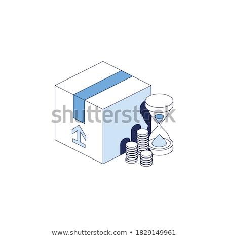 tempo · é · dinheiro · ilustração · balança · tempo · um · lado - foto stock © robuart