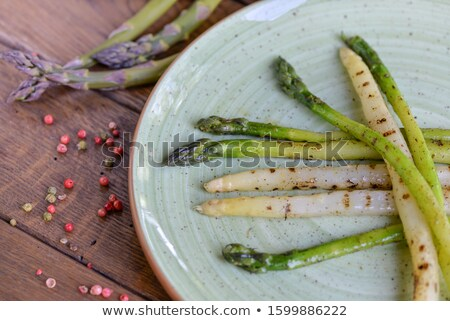 a plate of asparagus stock photo © hofmeester