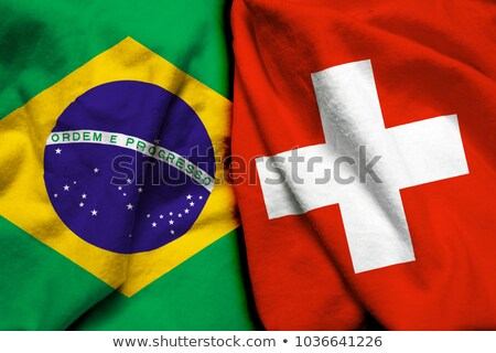 Switzerland and Brazil Flags Stock photo © Istanbul2009