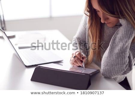 Stylus toll zárt ujjak tart kész Stock fotó © hfng
