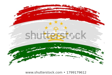 Flag of Tajikistan painted with brush Stock photo © tang90246