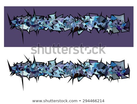 graffiti abstract purple spiked shape pattern on white  Stock photo © Melvin07
