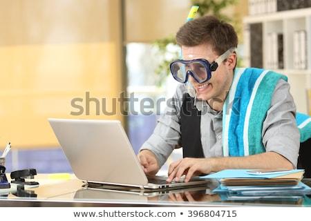 Businessman needs a vacation Stock photo © alphaspirit
