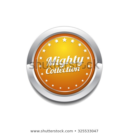 mighty collection yellow vector icon button stock photo © rizwanali3d