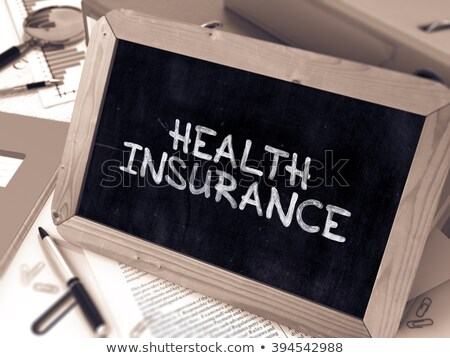 Healthcare on Ring Binder. Blured, Toned Image. Stock photo © tashatuvango