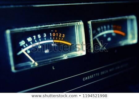 Vintage audio tape paneel abstract muziek Stockfoto © feverpitch
