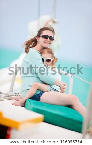 matka · dziecko · wody · kobiet · sportu · basen - zdjęcia stock © paha_l