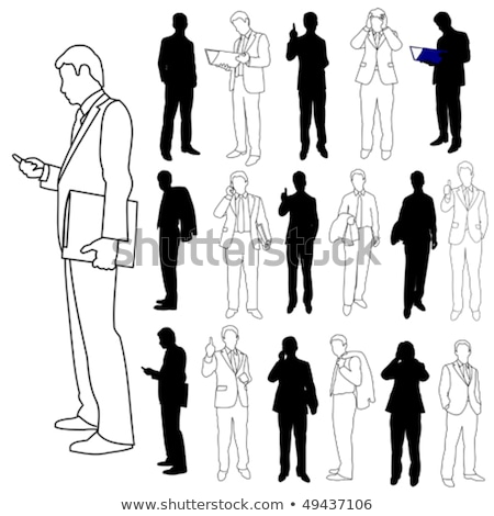 confident positive man holding colorful folders and pointing on you stock photo © deandrobot