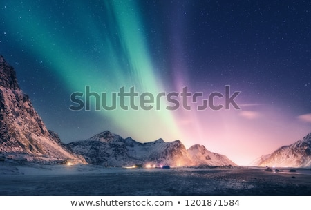 northern landscape at night Stock photo © tracer