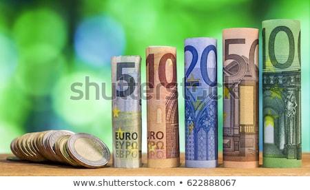 rollen · euro · bankbiljetten · elastiekje · geïsoleerd · witte - stockfoto © stevanovicigor