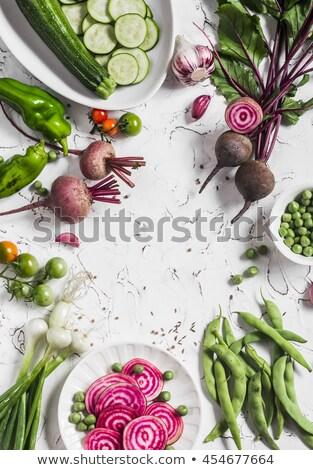 生 野菜 文字 完全菜食主義者の クローズアップ 黒 ストックフォト © nito