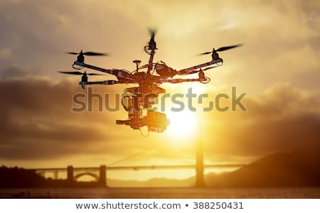 A helicopter near the bridge Stock photo © bluering