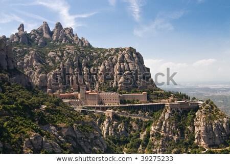 Látványos hegyek Spanyolország kő Európa hit Stock fotó © amok