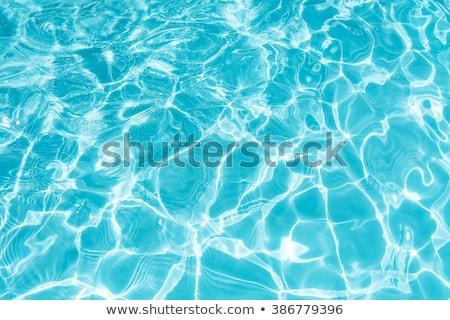 синий Бассейн воды весело плаванию Cool Сток-фото © njnightsky