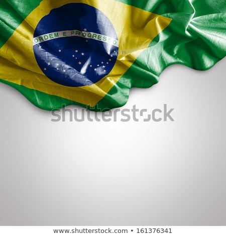 Bandiera Brasile sud america texture sfondo Foto d'archivio © m_pavlov