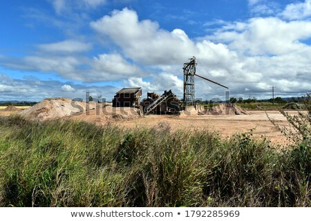Stock photo: Conveying towers in the grass