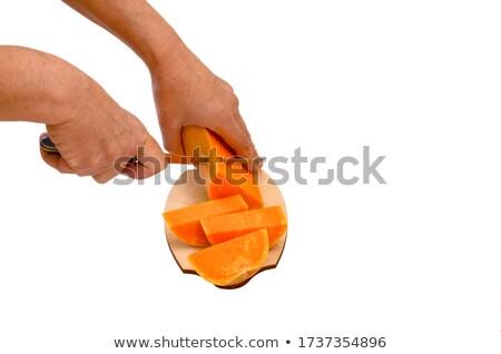 オレンジ カボチャ 手 水平な 健康 表 ストックフォト © Karpenkovdenis