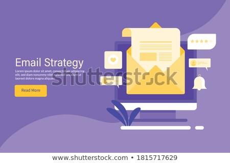 Kampány ikon terv üzlet pénzügy izolált Stock fotó © WaD