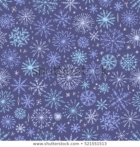 snowflake winter background in gentle feminine style. Vector ill Stock photo © Galyna