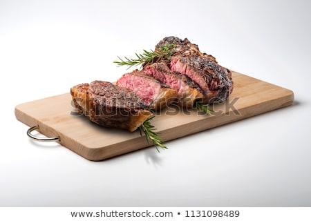 soczysty · stek · rzadki · wołowiny · przyprawy · kawałek - zdjęcia stock © tycoon