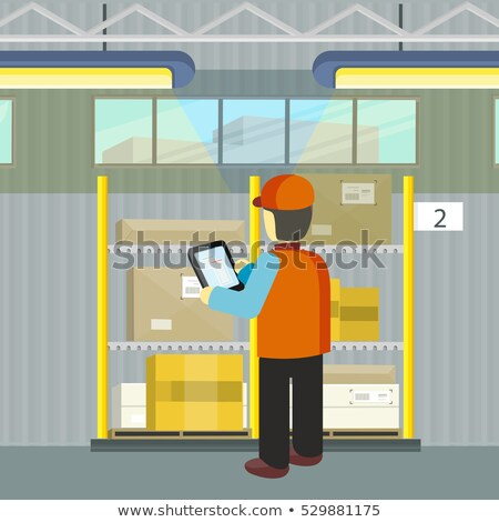 Logistician Manager Checks the Cargo Deivering. Stock photo © robuart