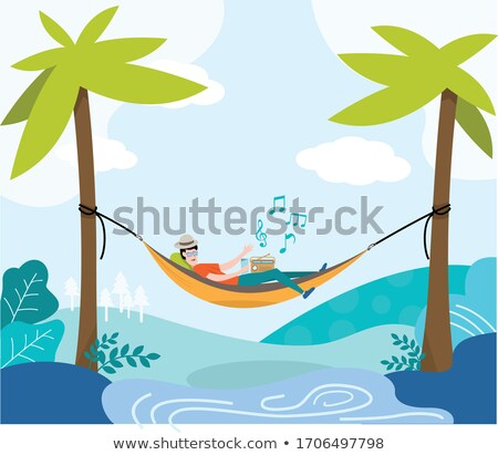 Stock photo: Under The Palm Travel Background