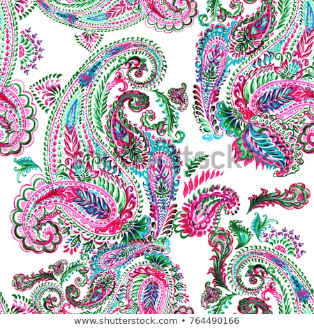 paisley background with watercolor effect Stock photo © SArts