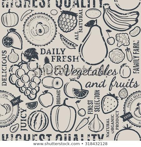 Vintage kiwi étiquette vecteur style Photo stock © ConceptCafe