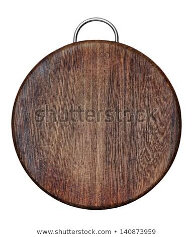 téglalap · fehér · fából · készült · vágódeszka · festett · tiszta - stock fotó © Digifoodstock