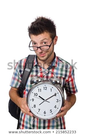 Diák hiányzó tanul határidők fehér mosoly Stock fotó © Elnur