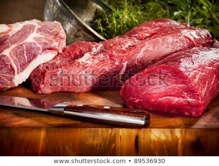 selection of raw meats Stock photo © M-studio