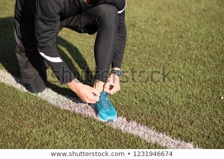 boy tying shoelace in the forest stock photo © wavebreak_media