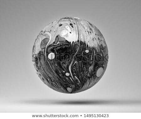 Metálico esfera blanco fondo metal estudio Foto stock © make