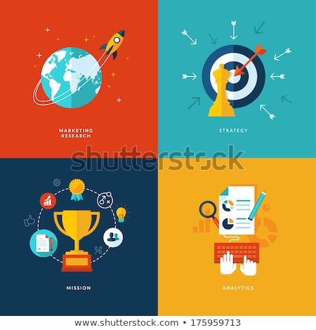 gestión · consulta · símbolo · conexión · dos · grupos - foto stock © wad