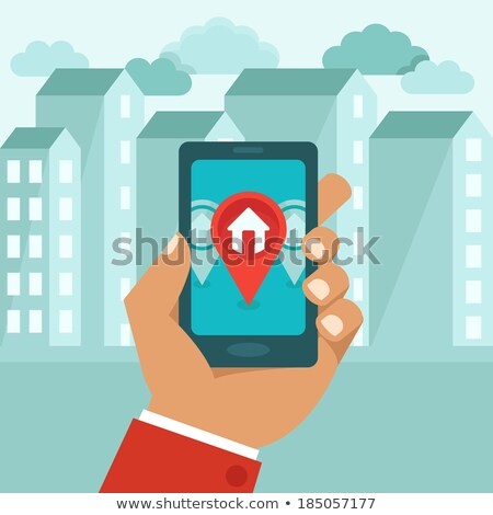 find smartphone flat raster icon stock photo © ahasoft