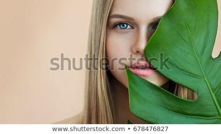 Gyönyörű lány természetes smink gyönyörű fiatal nő izzó Stock fotó © svetography