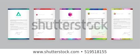 Modernen kreative Briefkopf Design-Vorlage Vektor abstrakten Stock foto © SArts