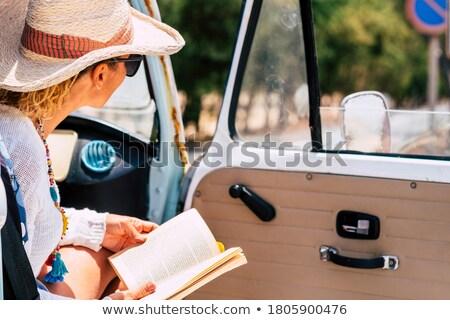 girl with map in minivan Stock photo © LightFieldStudios