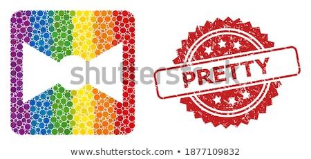 rainbow tie and bow symbol lgbt stock photo © orensila