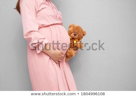 Boldog férfi terhes nő tart játék otthon Stock fotó © wavebreak_media