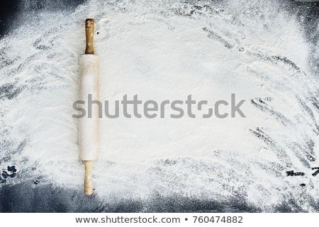 Pin haddeleme un eski ahşap beyaz kapalı Stok fotoğraf © StephanieFrey