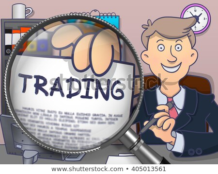 Stock Market through Magnifying Glass. Doodle Style. Stock photo © tashatuvango