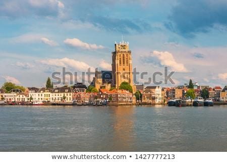 スカイライン オランダ 教会 市 オランダ ストックフォト © compuinfoto