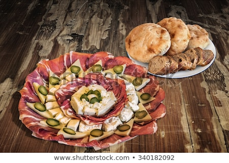 smoked pork neck with bread stock photo © digifoodstock