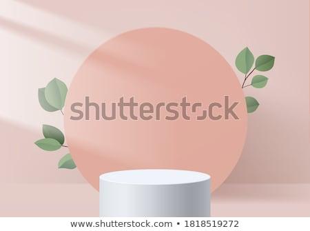 minimal heart design on soft pink background Stock photo © SArts