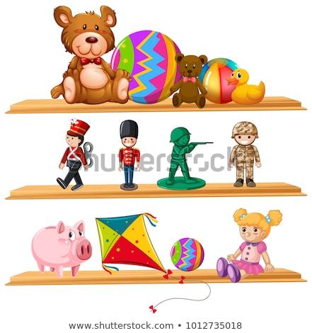 Muneca pelota plataforma ilustración libros Foto stock © bluering