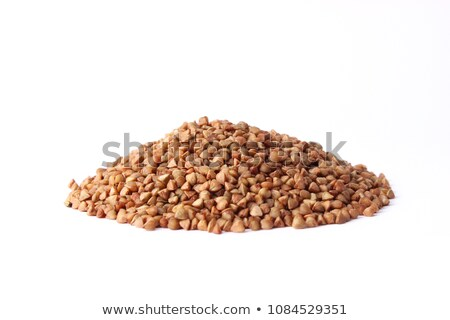 buckwheat in wooden bowl isolated groats in wood dish grain on stock photo © maryvalery